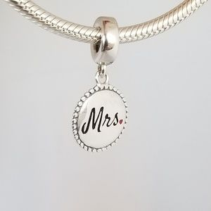 Pandora Mrs. Dangle Charm Bride Silver 925 Ale